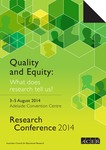 Research Conference 2014 - Quality and Equity: What does research tell us?