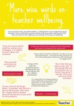 Infographic: More wise words on teacher wellbeing by Rebecca Vukovic
