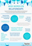Infographic: Wise words on relationships by Australian Council for Educational Research (ACER)