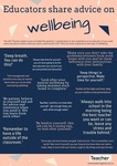 Infographic: Educators share advice on wellbeing by Rebecca Vukovic