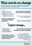 Infographic: Wise words on change by Dominique Russell