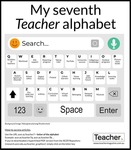 Infographic: My seventh Teacher alphabet by Jo Earp