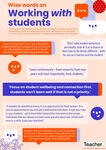 Infographic: Wise words on working with students